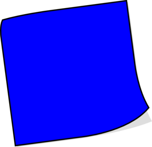 Blue sticky note png. Clip art at clker