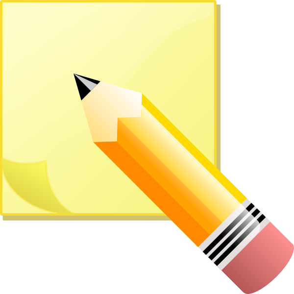 Sticky clipart animated. Write clip art at
