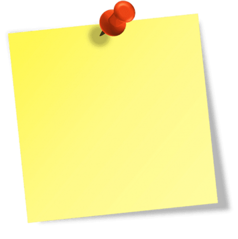 Vector pointers sticky note. Yellow notes png free