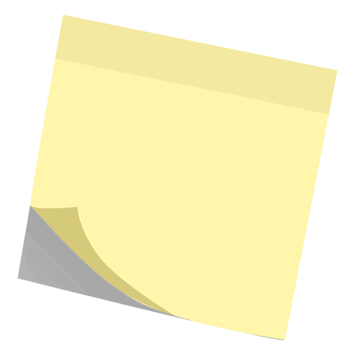 Sticky note transparent png. Yellow post it svg