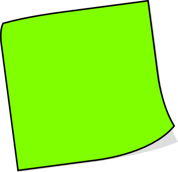 Green post it note png. Sticky notes image purepng