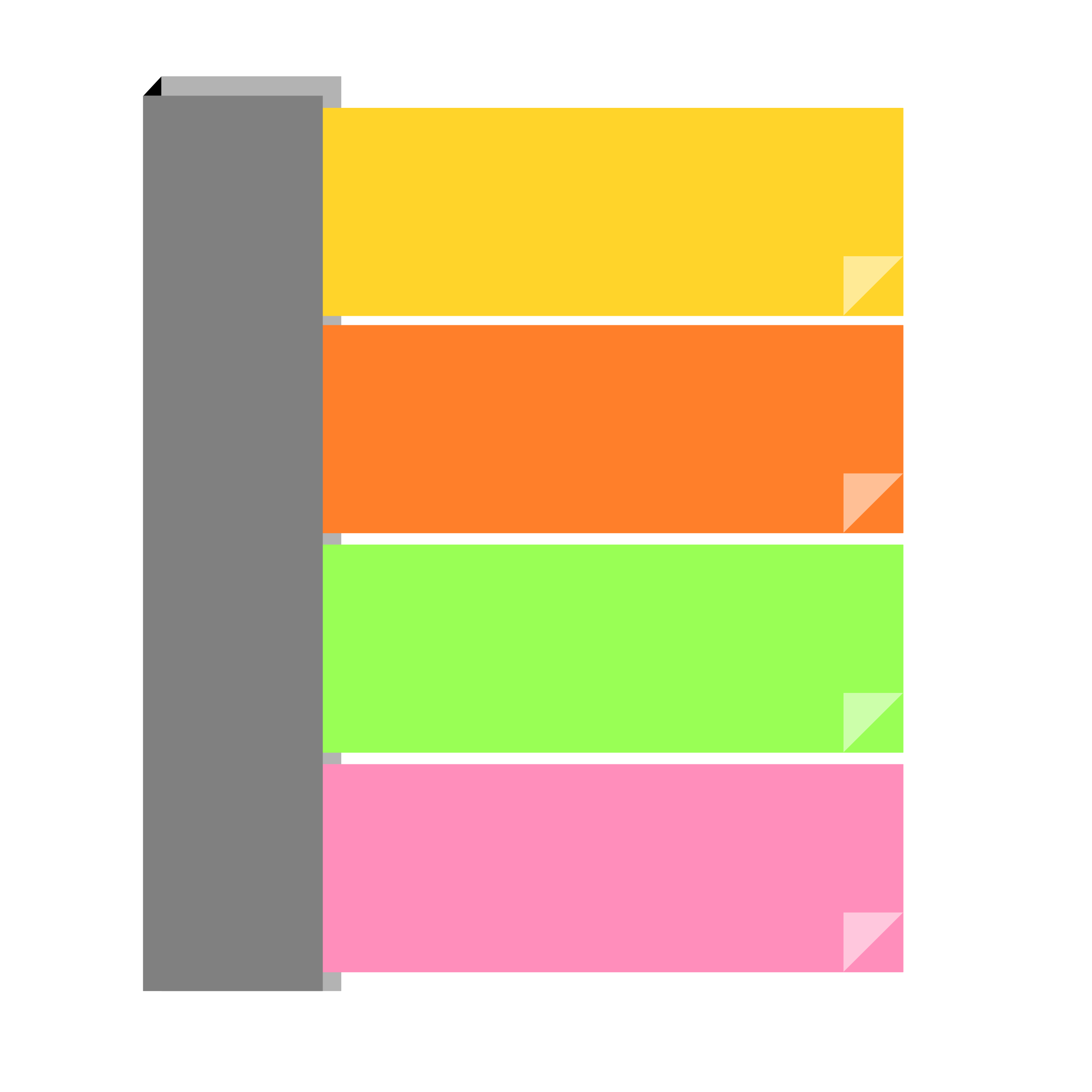 Orange sticky note png. Remixed notes assorted icons