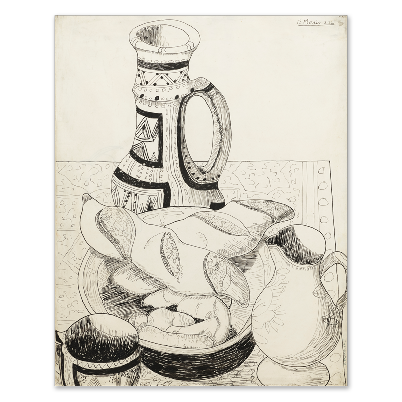 Portfolio drawing still life. With jug philip mould