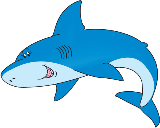 Stingray clipart blue shark. Pencil and in color