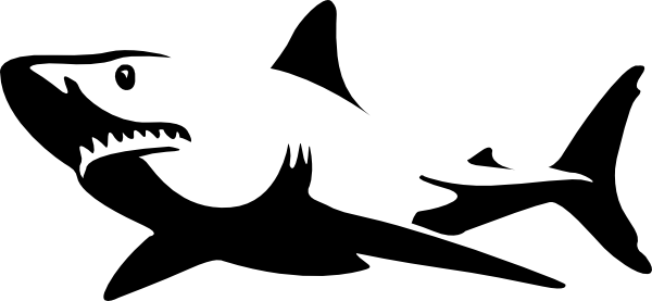 Stingray clipart blue shark