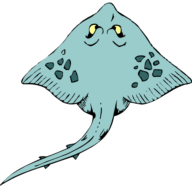 Sting ray clip art. Wasp vector picture transparent stock