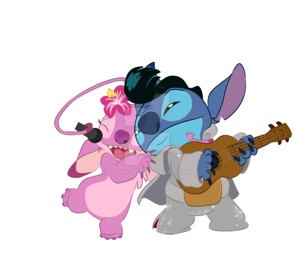 Stitch and angel png. Band by fishys on
