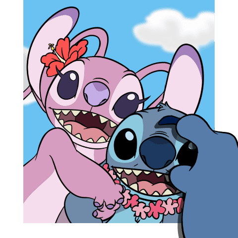Stitch and angel png. Image smartphone smile disney