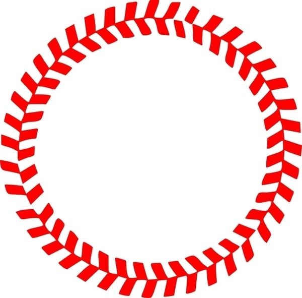 Stitch clipart baseball seam. Stitches in a circle