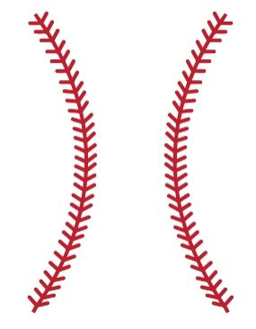 Stitch clipart baseball seam. Stitches wall decals pinterest