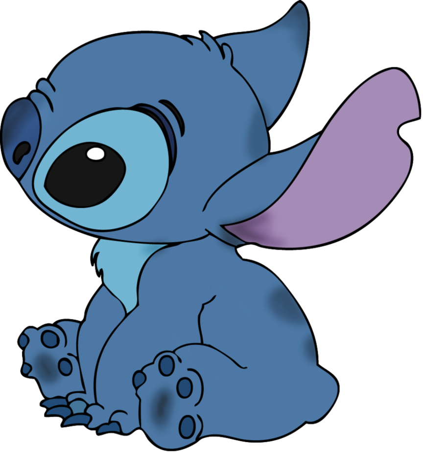 Stitch sticker png. Line art colorized by