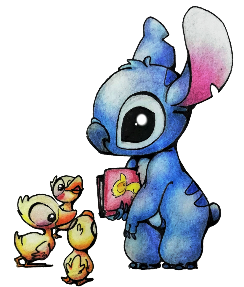 Stitch sticker png. By maknaru on deviantart