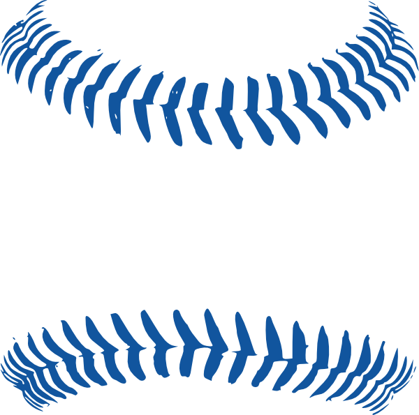 Vector laces baseball. Line art group with