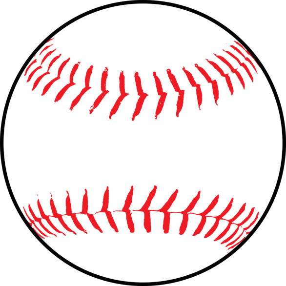 Baseball outline png. With red stitching clipart