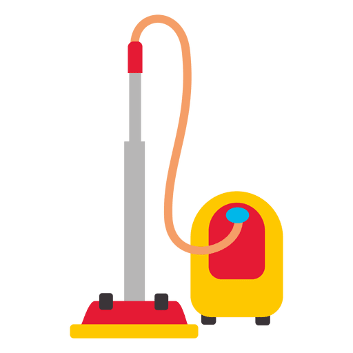 Clean vector vacuum cleaner. Flat transparent png svg