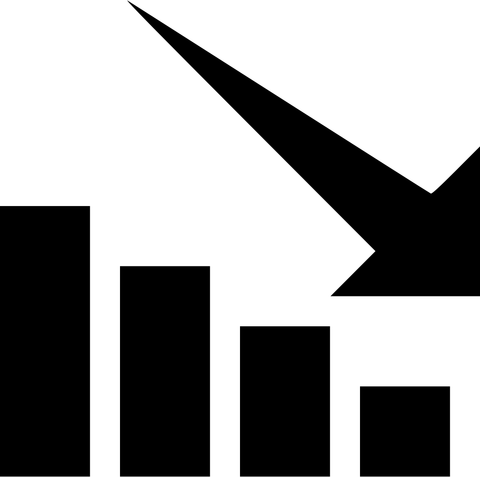 Stock going down png. Chart svg icon free