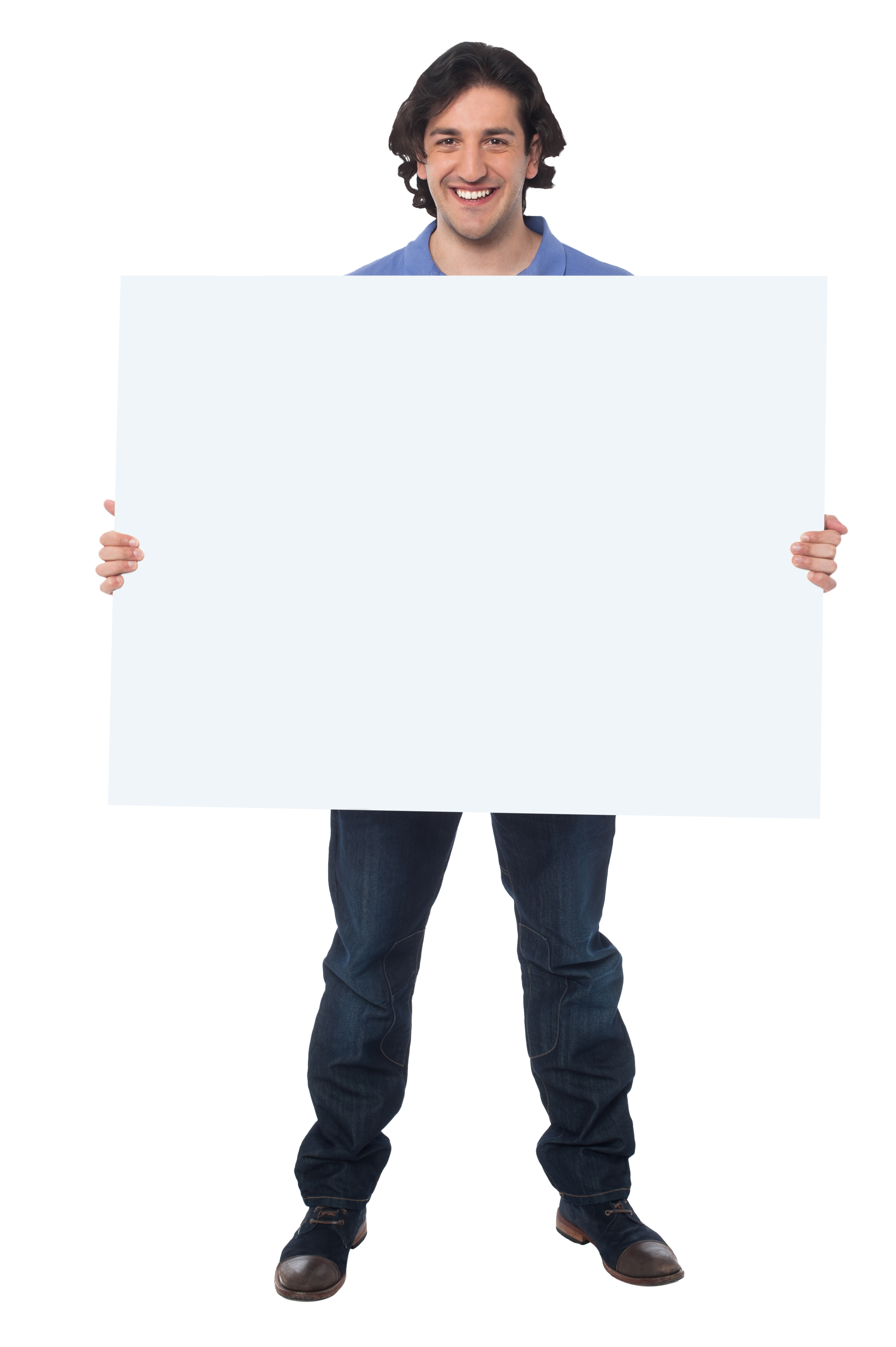 Stock photo png. Men holding banner play