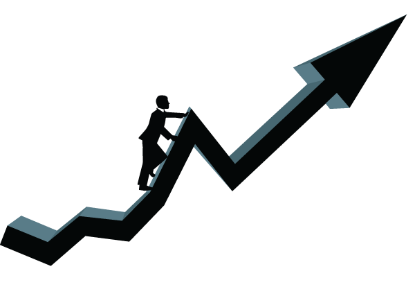 stock market arrow png