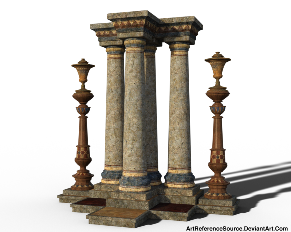 Stock png images free. Decorated columns by artreferencesource
