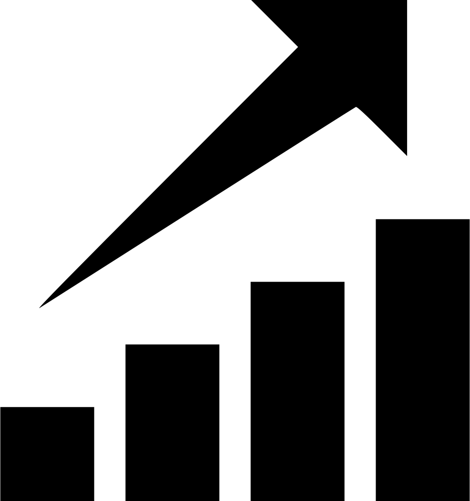 Stock rising png. Chart graph growth svg