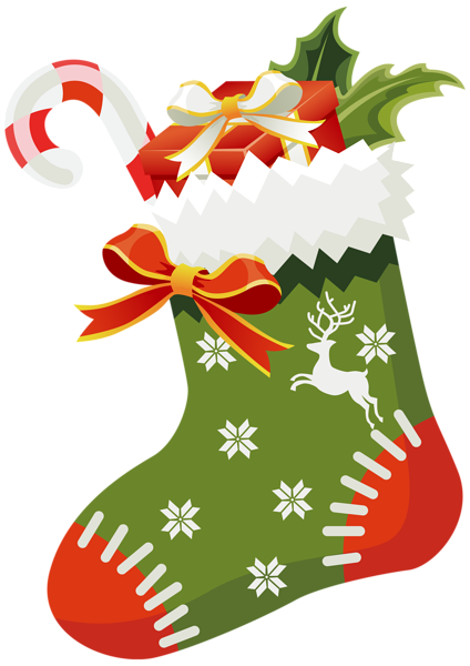 Stocking clipart. Christmas green png image