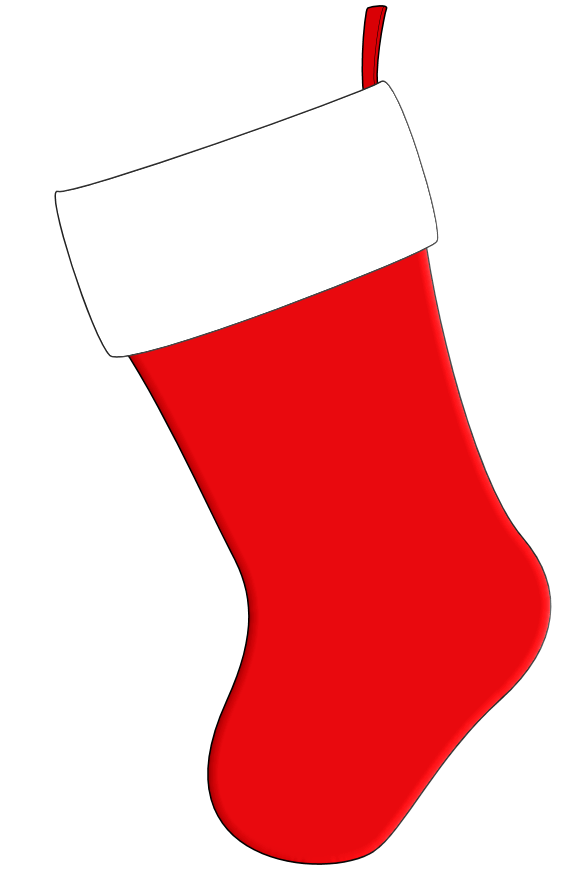 Stocking vector simple. Christmas coloring pages label