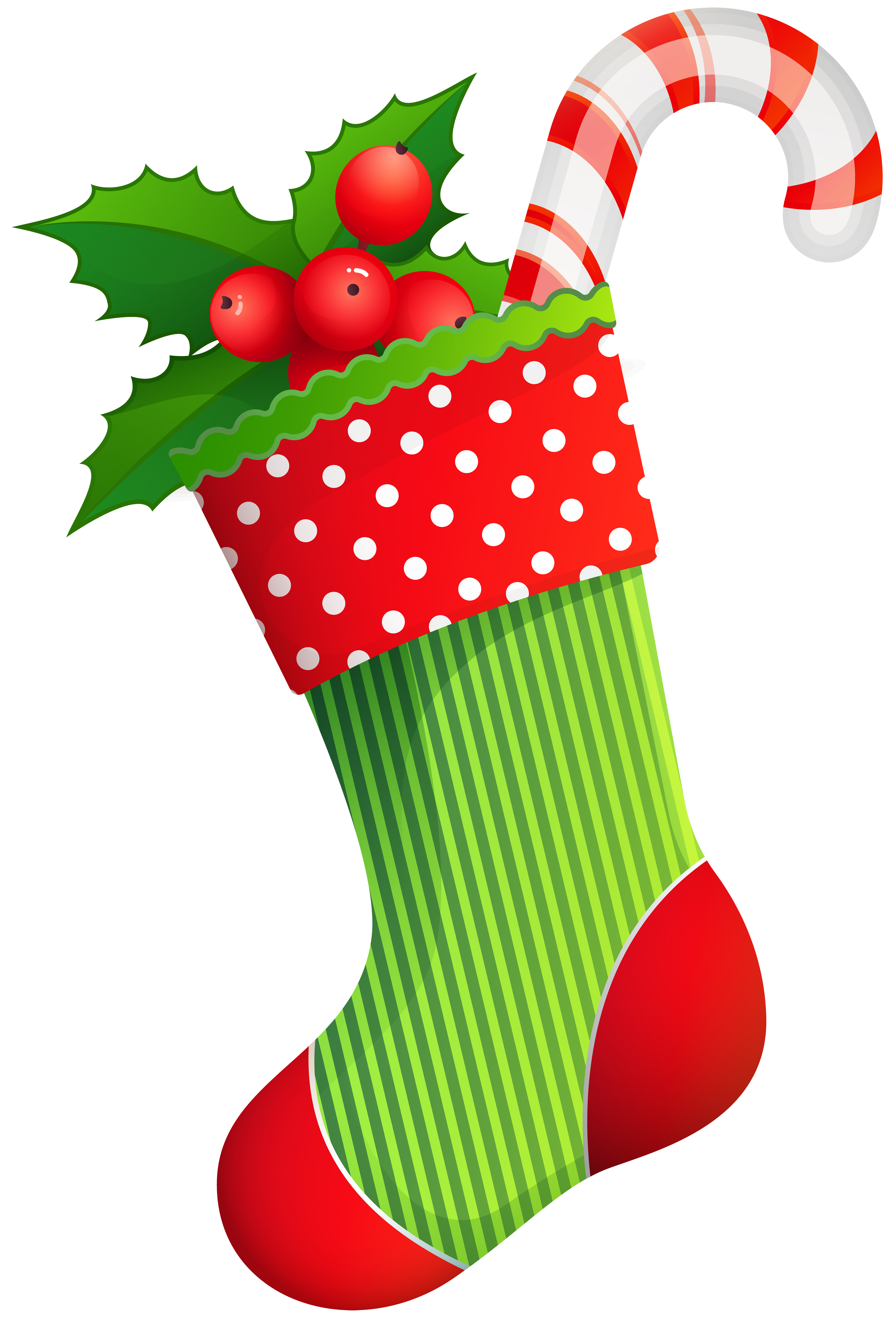 Stocking vector clipart. Christmas holiday transparent png