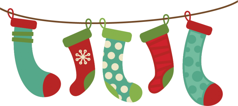 Stocking clipart merry christmas. Stockings happy new year