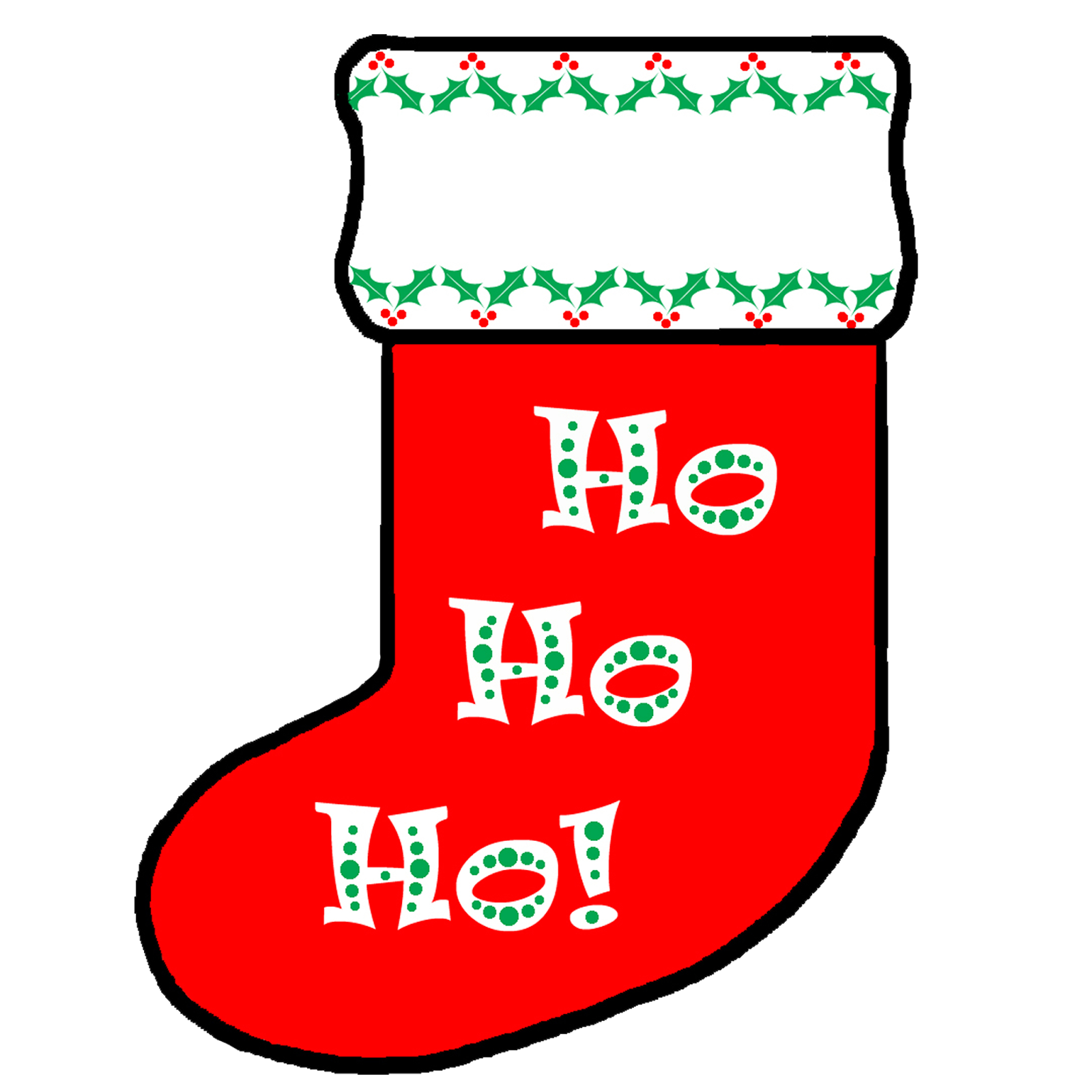 Stocking vector pop art. Free personalized christmas cliparts