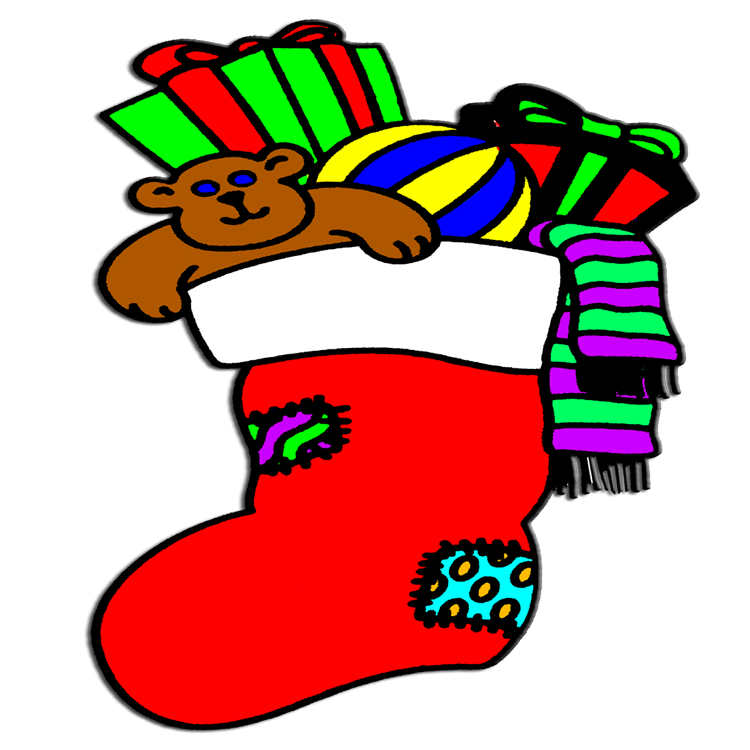 Stocking clipart stuff. Free picture of christmas
