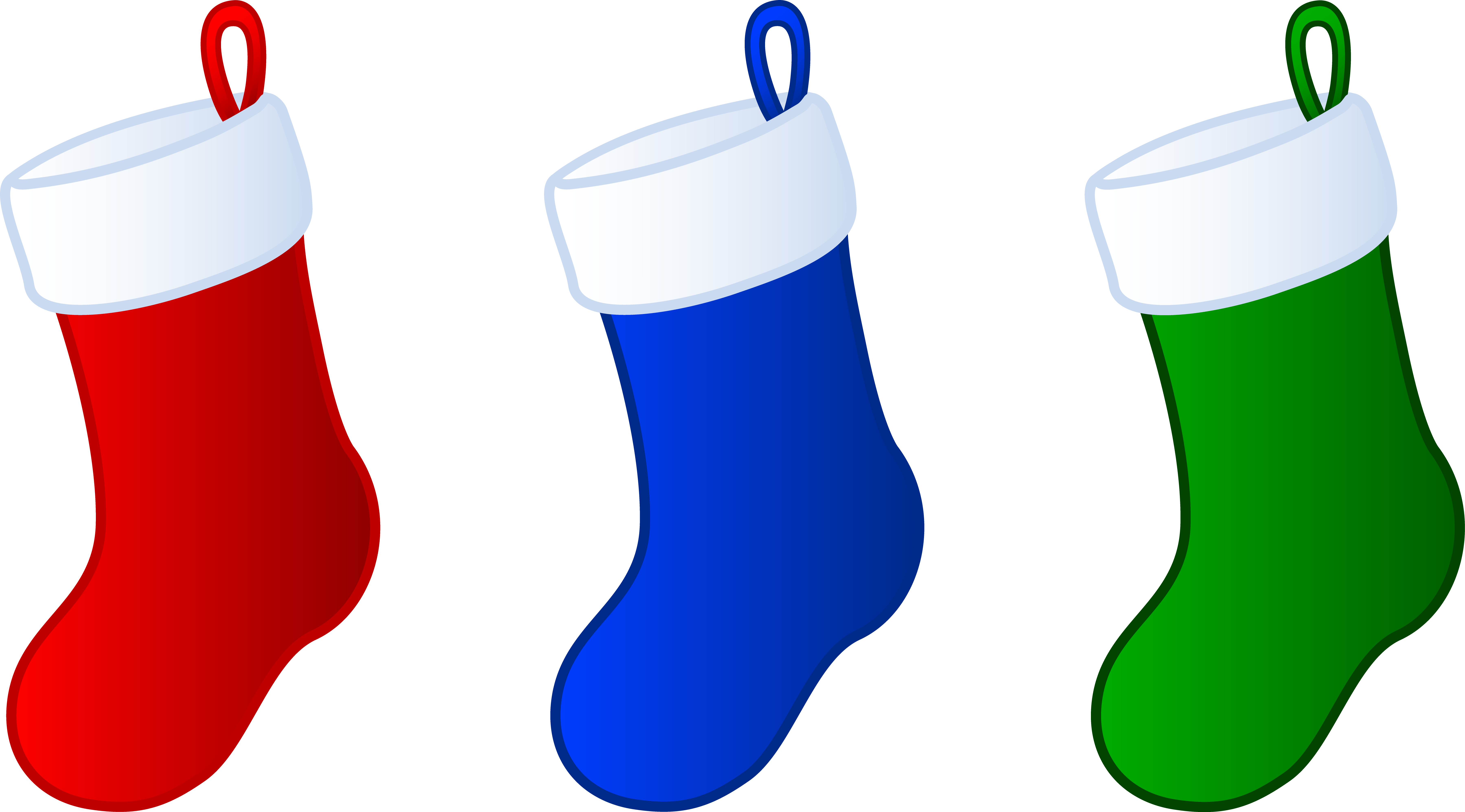 Stocking clipart yule. Three simple christmas stockings