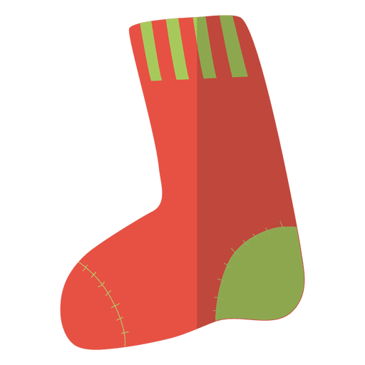 Stocking vector. Christmas flat icon transparent
