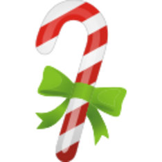 Stocking vector candy cane. Christmas dryicons christmascandycane