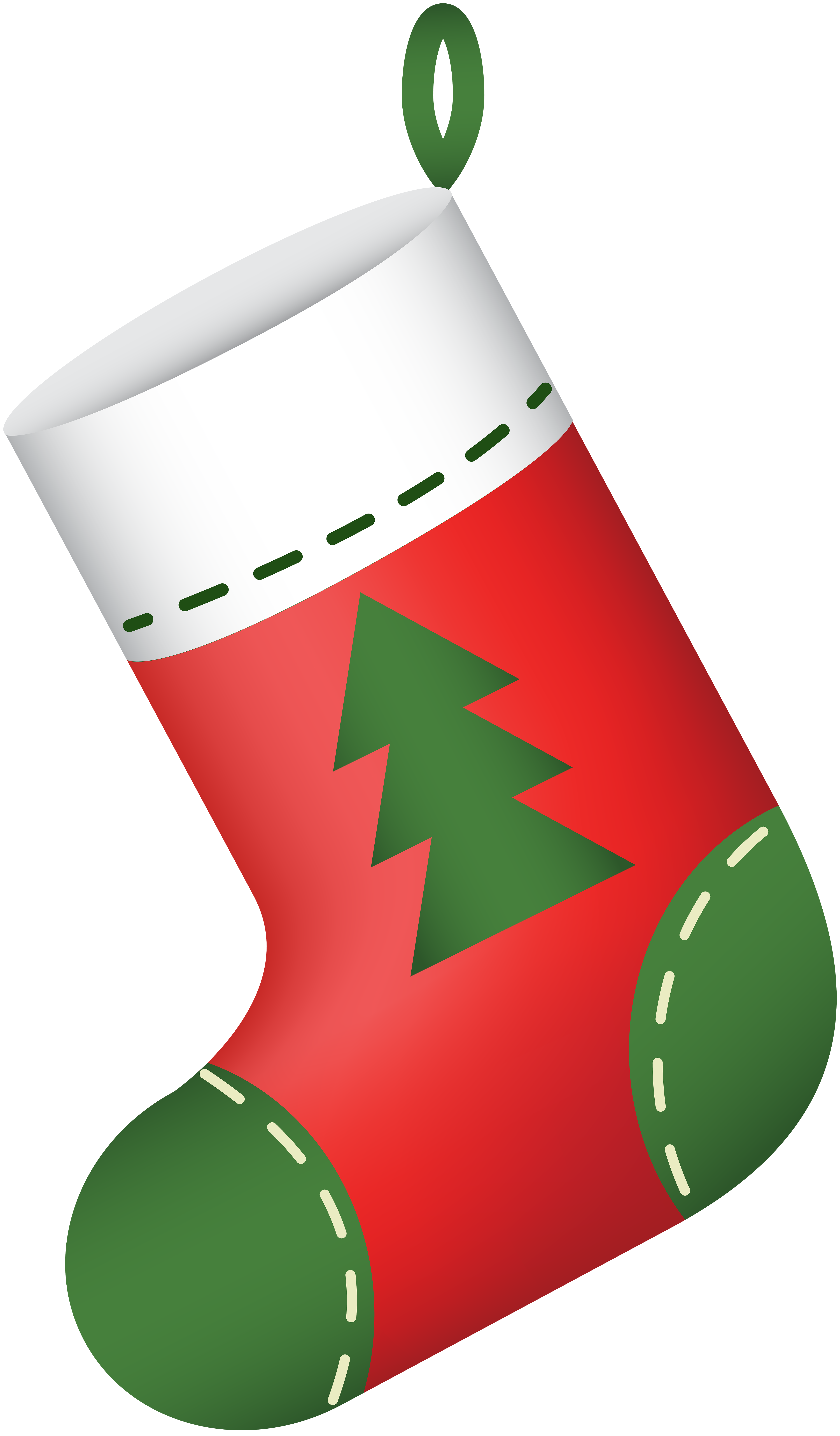 Stocking vector simple. Free clipart christmas at