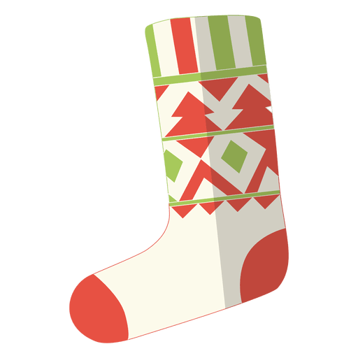 Stocking vector transparent. Christmas flat icon png