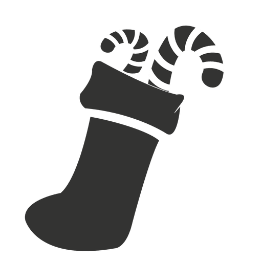 Stocking vector candy cane. Canes sock icon transparent