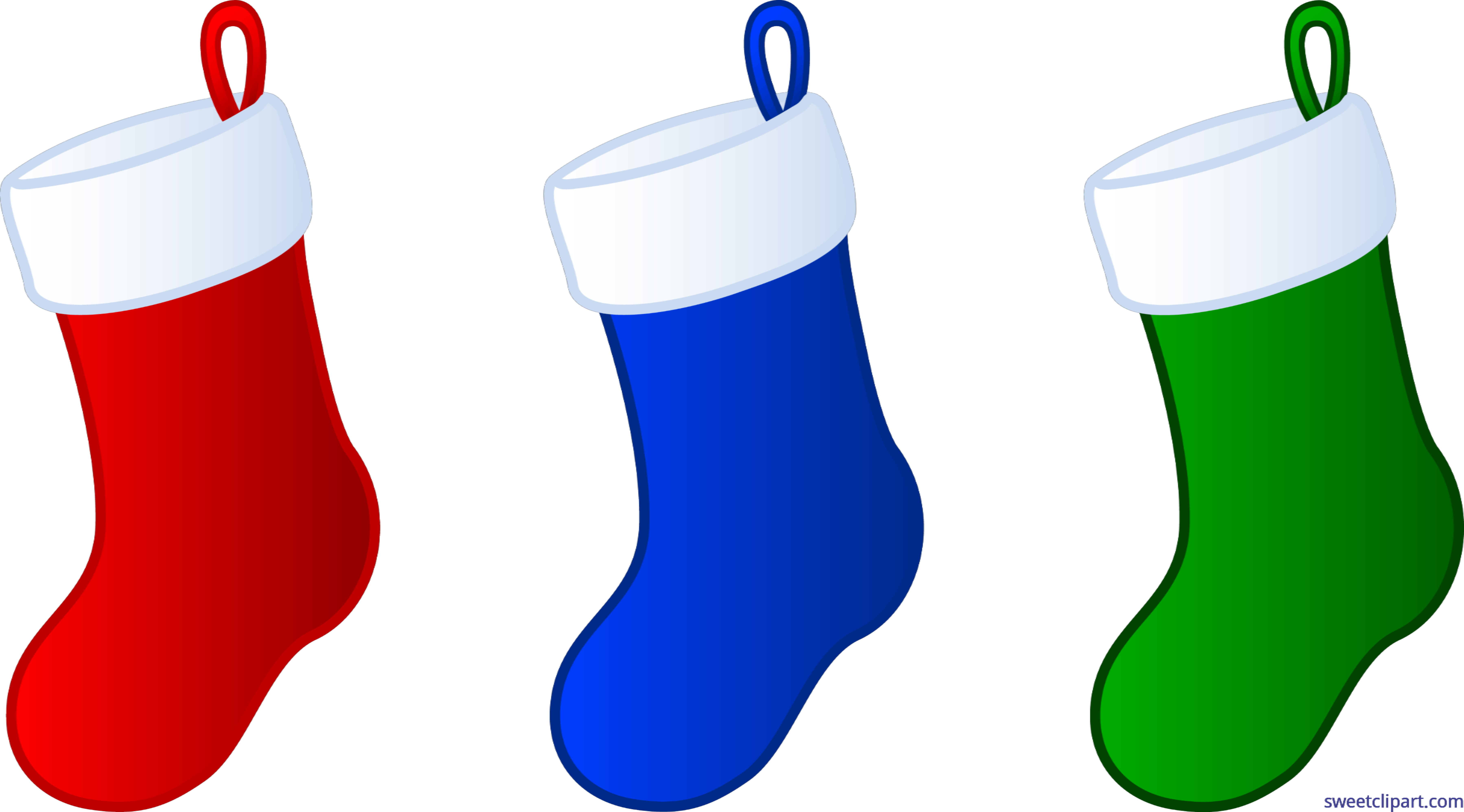 Stocking vector xmas. Christmas stockings clip