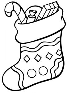 Stockings Colouring Page Transpa