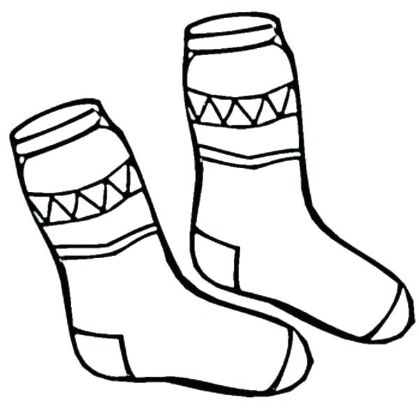 Stockings Colouring Page Transparent Clipart Free Download