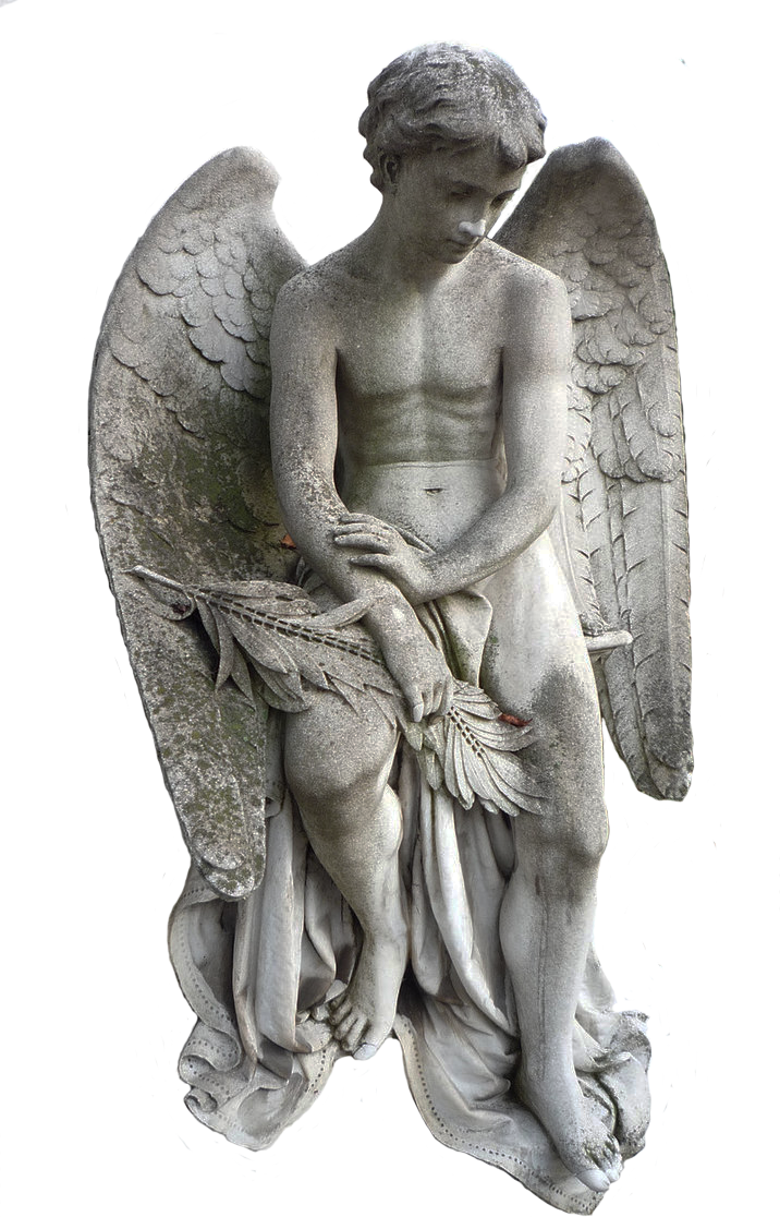 Stone angels png. Angel statue stock by