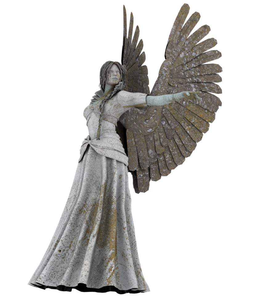 Stone angels png. Angel statue by pandoriano
