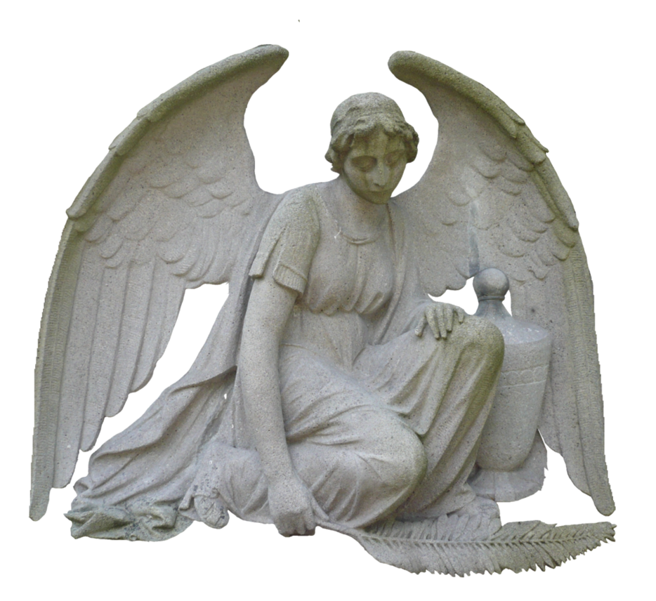 Stone angel png. Sculpture by erdmute on