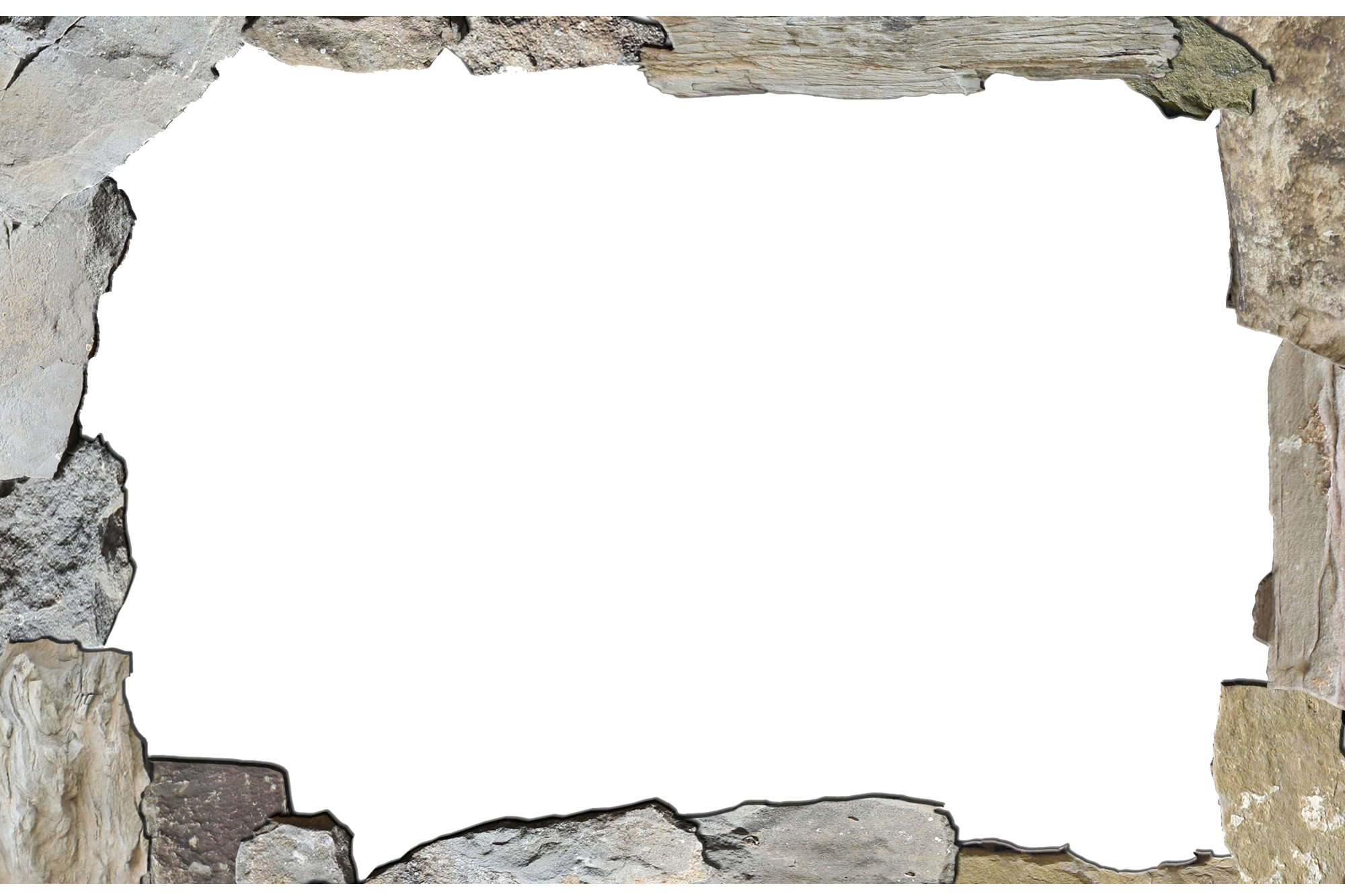 Stone border png. Texture mapping clip art