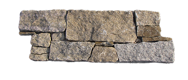 Stone clip wall cladding. Panel system rustic gneiss