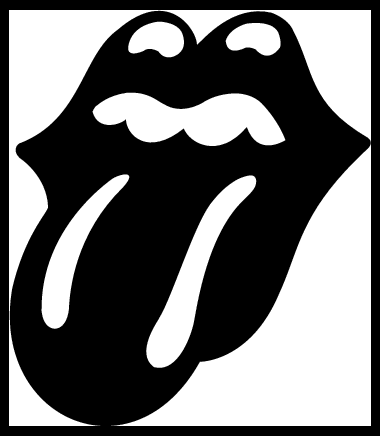 Stone clip white hair. Free rolling stones cliparts