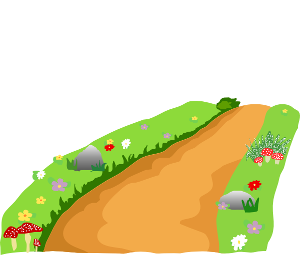 Stone clipart dirt path. Pencil and in color