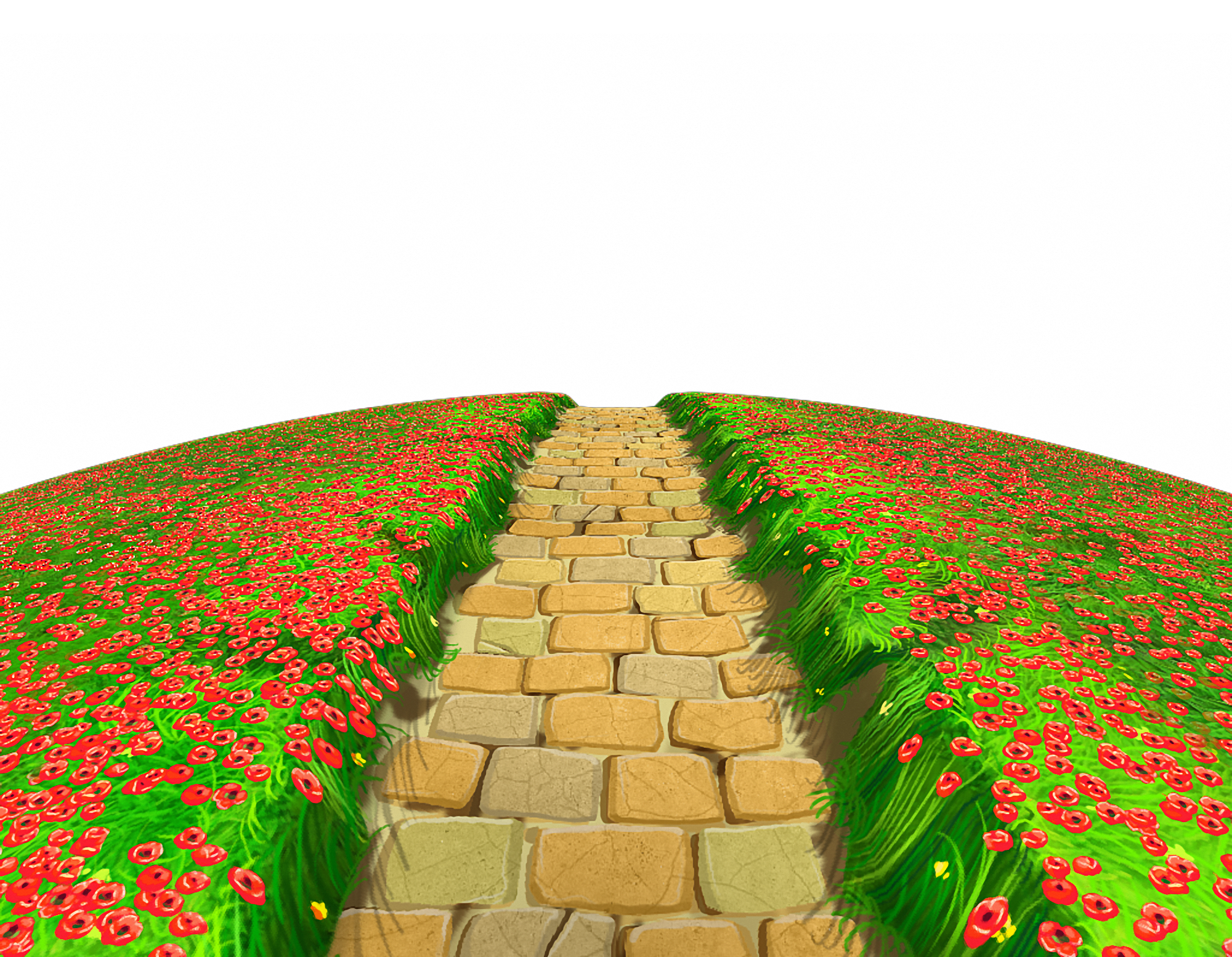 Stone clipart stone altar. Path with flowers ground