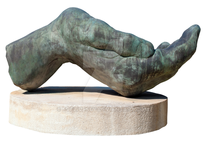 Stone hand png. Large sculpture by evelivesey