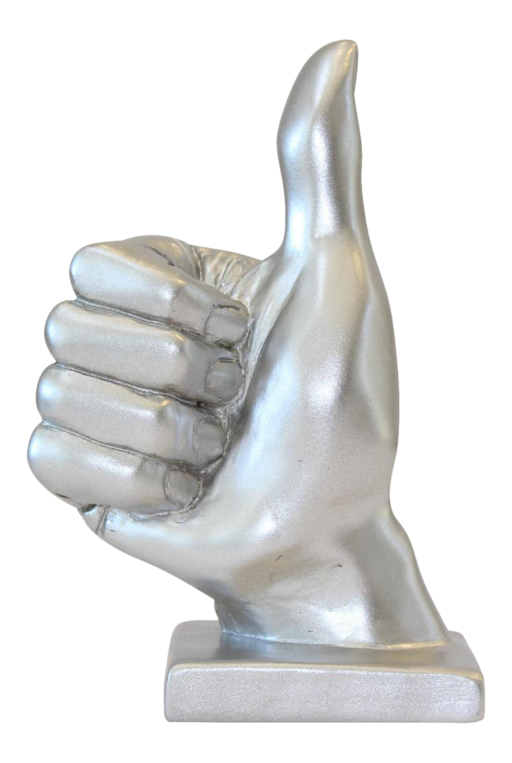 Stone hand png. Silver thumbs up sculpture