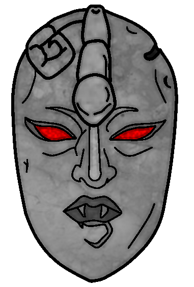 Stone mask png. Binary by bigswell on